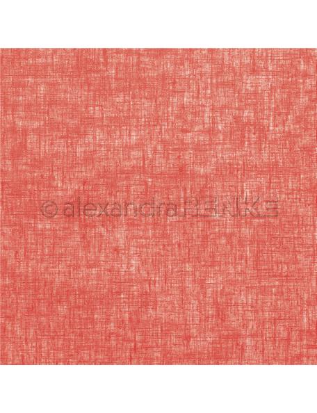 Alexandra Renke Cardstock una cara 30,5x30,5 cm, Lino color fresa/Leinen erdbeerrot