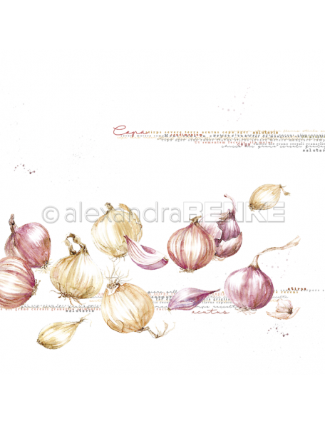 Alexandra Renke Cardstock una cara 30,5x30,5 cm, Cebollas/Zwibeln