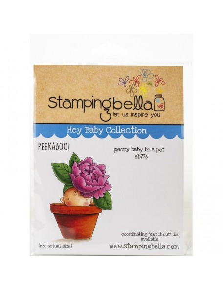 Stamping Bella Sello/Cling Stamps, Peony Baby In Pot