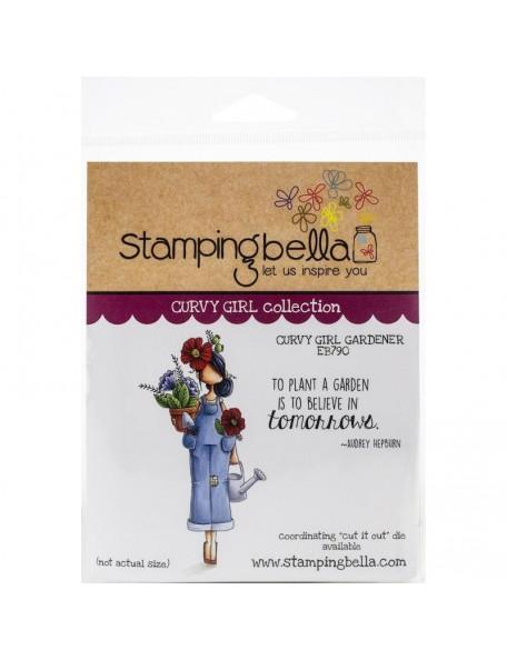 Stamping Bella Cling Stamps, Curvy Girl Gardener
