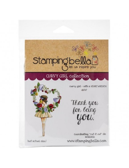 Stamping Bella Sello/Cling Stamps, Curvy Girl With A Heart Wreath