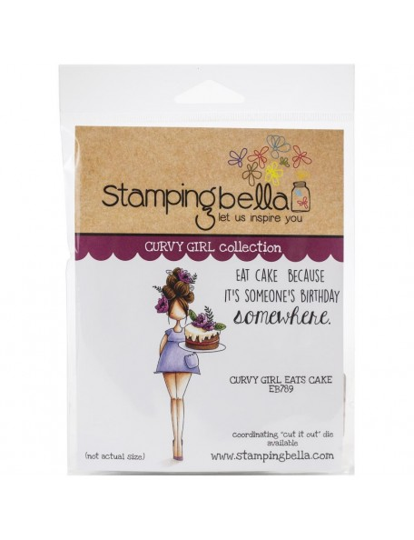 Stamping Bella Sello/Cling Stamps, Curvy Girl Eats Cake