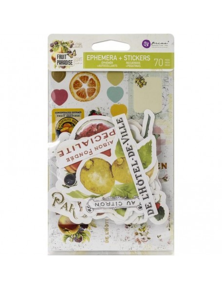 Prima Marketing Fruit Paradise Recortes y Pegatinas/Ephemera W/Stickers 70