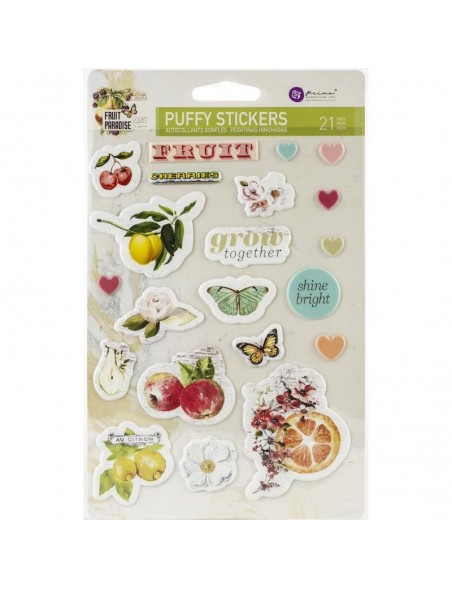 Prima Marketing Fruit Paradise Pegatinas 3D/Puffy Stickers 21