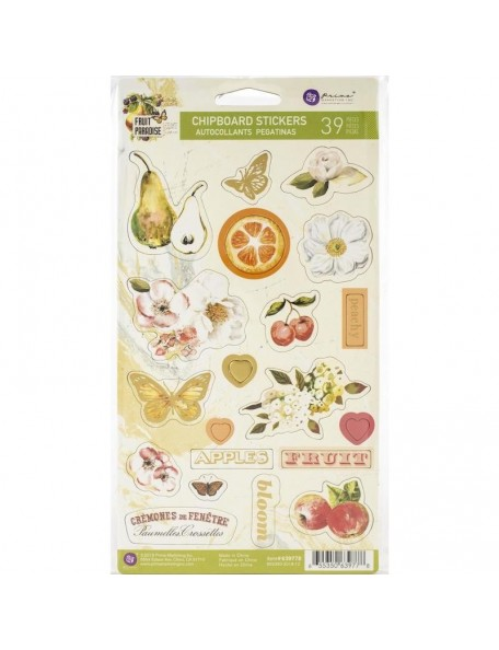 Prima Marketing Fruit Paradise Chipboard Pegatinas/Stickers 39