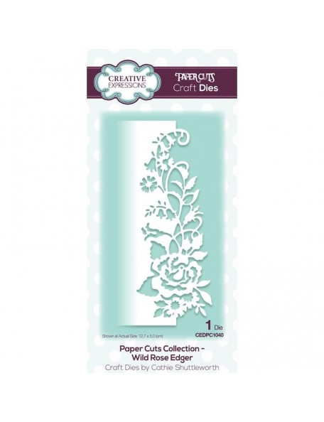 Creative Expressions Paper Cuts Edger Craft Dies, Wild Rose