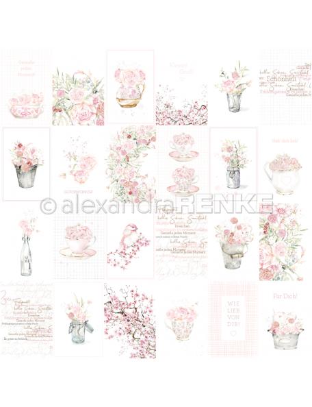 Alexandra Renke Cardstock una cara 30,5x30,5 cm, Kärtchenbogen rose Gestecke