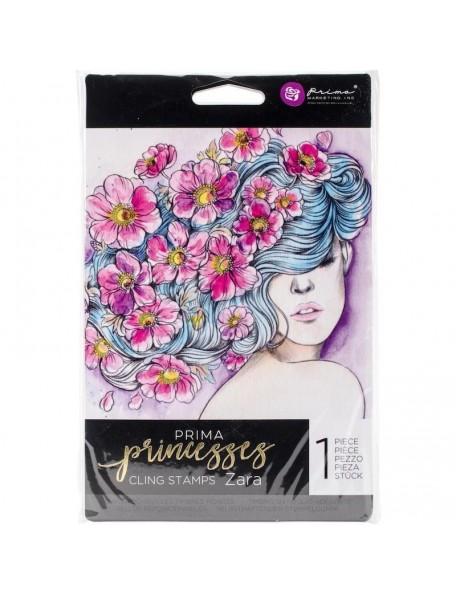 "Prima Marketing Princesses sello/Cling Stamp 5""X7"", Zara"