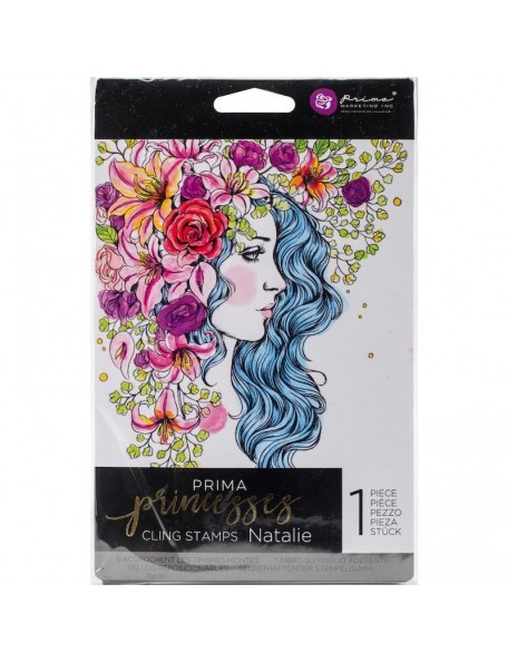 "Prima Marketing Princesses sello/Cling Stamp 5""X7"", Natalie"