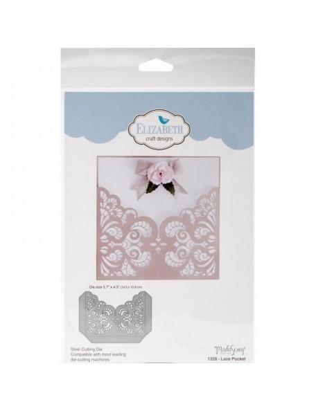 """Elizabeth Craft Troquel ModaScrap Designs, Lace Pocket, 5.7""""X4.3"""""""