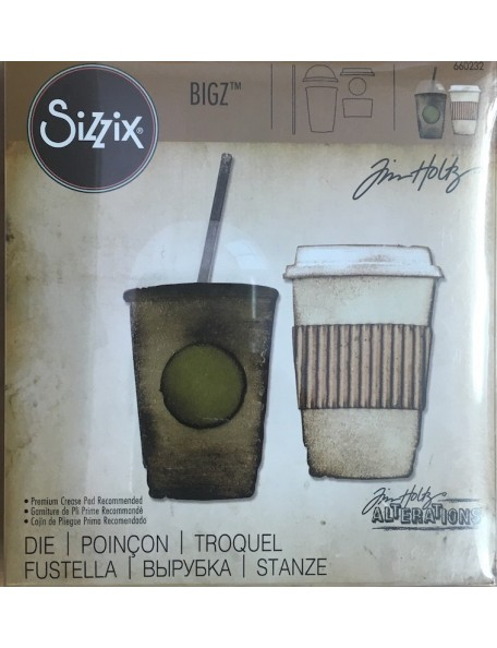 "Sizzix Bigz Die By Tim Holtz 5.5""X6"", Recien Hecho/Fresh Brewed"