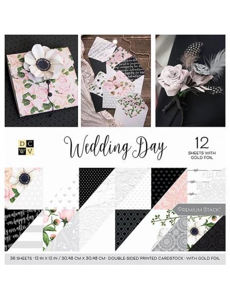 "DCWV Cardstock Stack de doble cara12""X12"" 36, Wedding Day"