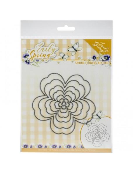 Find It Trading Precious Marieke Troquel/Die, Flores principios de primavera/Nesting Flowers, Early Spring