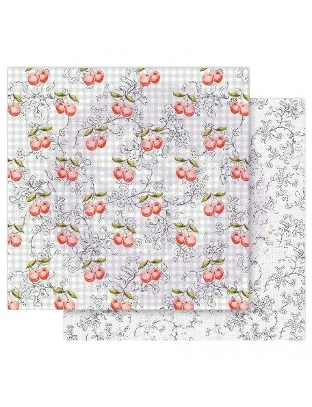 Prima Marketing Fruit Paradise Cardstock de doble cara 12X12, Cherry Galore