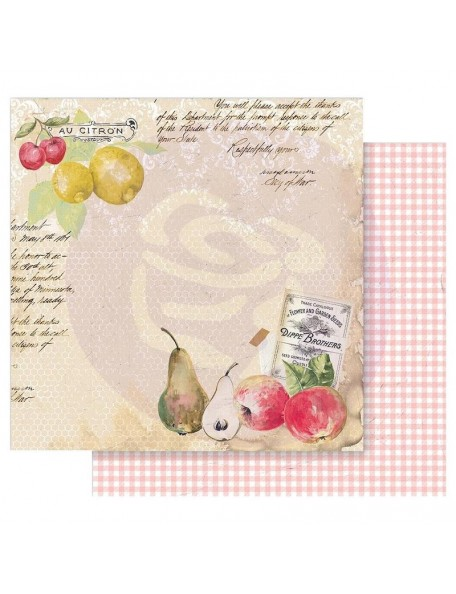 Prima Marketing Fruit Paradise Cardstock de doble cara 12X12, Sweet and Citrus