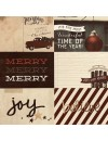 "Simple Stories Cozy Christmas Elements Cardstock de doble cara 12""X12"", 4""X6"" Horizontal Journaling Cards"