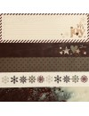 "Simple Stories Cozy Christmas Elements Cardstock de doble cara 12""X12"", 2""X12"" Border and 4x12"" Title Strip Elements"