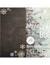 """Simple Stories Cozy Christmas Elements Cardstock de doble cara 12""""X12"""", 6""""X12"""" Page Elements"""