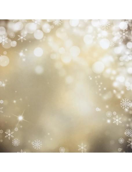 """Simple Stories Cozy Christmas Elements Cardstock de doble cara 12""""X12"""", Sparkle Flurries/Ledger"""
