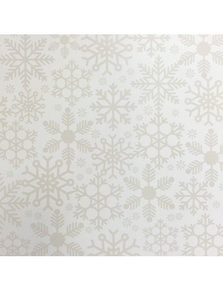 "Simple Stories Cozy Christmas Elements Cardstock de doble cara 12""X12"", Cream Flurries/Strip"