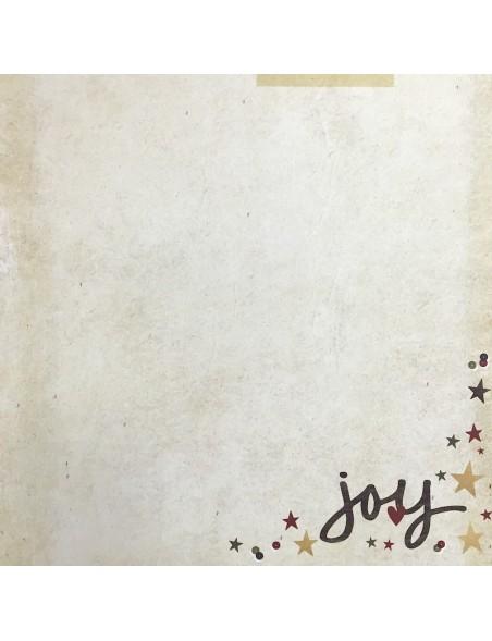 "Simple Stories Cozy Christmas Elements Cardstock de doble cara 12""X12"", Oh Joy"