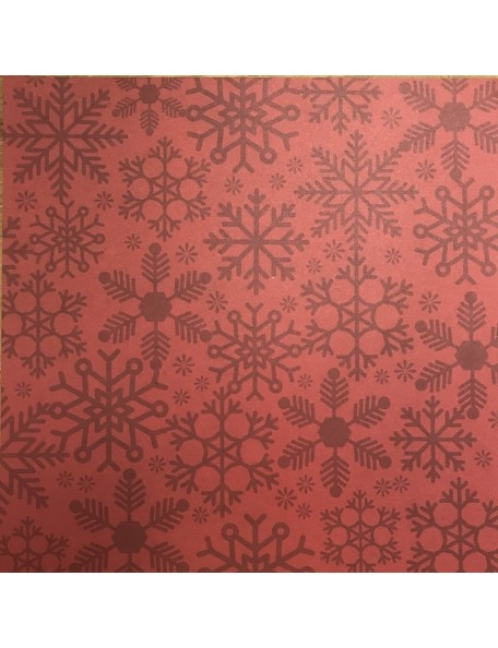 "Simple Stories Cozy Christmas Elements Cardstock de doble cara 12""X12"", Red Flurries/Strip"