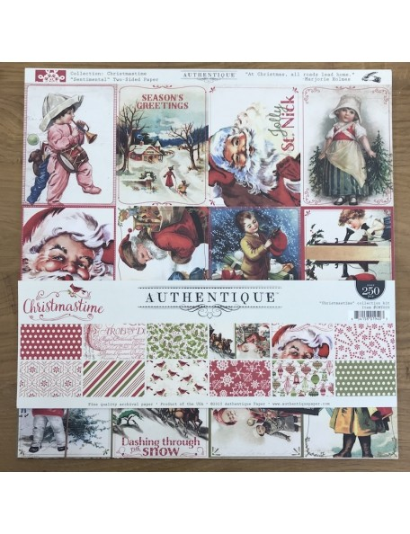 """Authentique Christmas Time Collection Kit 12""""X12"""""""