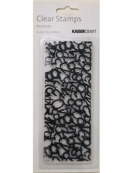 """Kaisercraft Texture Sello/Clear Stamps 2""""X5"""", Numeros/Numerals 50x130 mm"""
