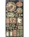 "Graphic 45 Winter Wonderland Decoraciones de Carton/Chipboard Die-Cuts 6""X12"", Decorative & Journaling"