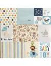 "Bella BLVD Cute Baby Boy Cardstock de doble cara 12""X12"", Daily Details"