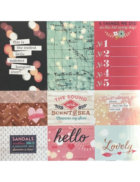 "Webster's Pages Ocean Melody Cardstock de doble cara 12""X12"", Summer Fun"