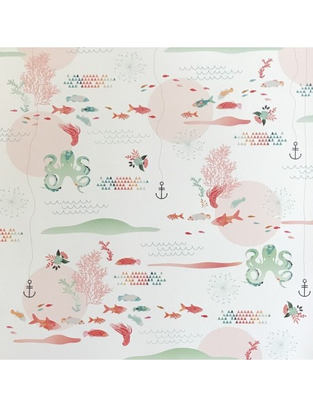 """Webster's Pages Ocean Melody Cardstock de doble cara 12""""X12"""", Sand & Sea"""