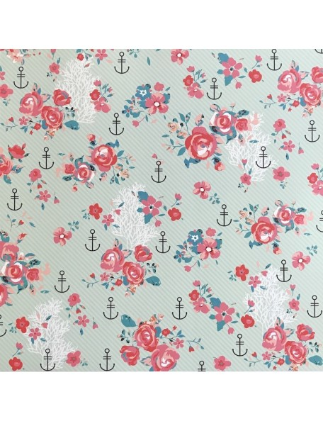"Webster's Pages Ocean Melody Cardstock de doble cara 12""X12"", Anchors Away"