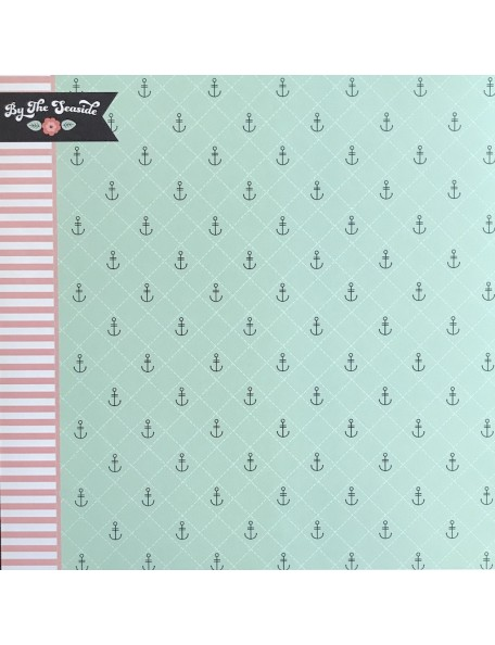"Webster's Pages Ocean Melody Cardstock de doble cara 12""X12"", Sea Breeze"
