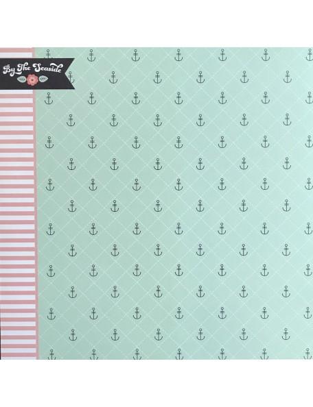 "Webster's Pages Ocean Melody Cardstock de doble cara 12""X12"", Sea Breeze"