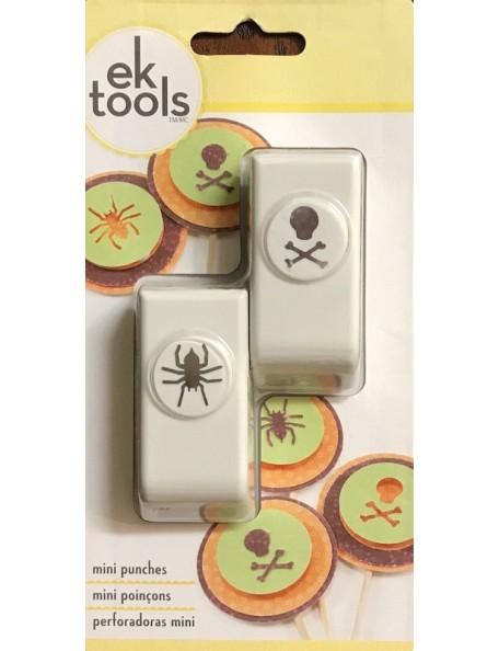 EK TOOLS Perforadoras Mini, Araña y Calavera