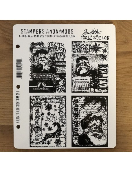 Stampers Anonymous Tim Holtz Sello de Caucho, 4 und., Holiday Collections