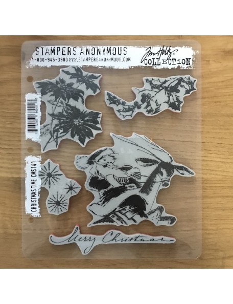 """Stampers Anonymous,Tim Holtz Sellos de Caucho 7""""X8.5"""", Christmas Time"""