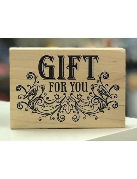 "Inkadinkado Sello de Madera 3.5""X4"" Gift For You 2.75""X4"""