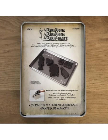 Sizzix Almacenamiento de metal Tim Holtz para Movers & Shapers, Mini Troquel magnéticos