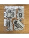 "Stampers Anonymous Tim Holtz Sello de Caucho 7""X8.5"", Halloween Blueprints No.2"