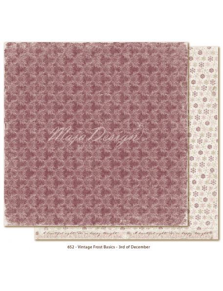 "Maja Design Vintage Frost Basics Cardstock de doble cara 12""x12"", 3nd of Dec"