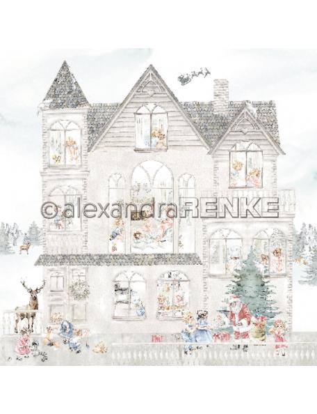 Alexandra Renke Cardstock una cara 30,5x30,5 cm, Casa de Navidad/Weihnachtskinder Haus