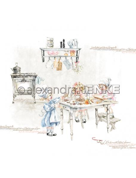 Alexandra Renke Cardstock una cara 30,5x30,5 cm, Weihnachtskinder Weihnachtliche Bäckerei