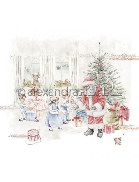 Alexandra Renke Cardstock una cara 30,5x30,5 cm, Weihnachtskinder Bescherung
