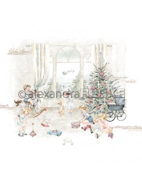 Alexandra Renke Cardstock una cara 30,5x30,5 cm, Weihnachtskinder Spielen