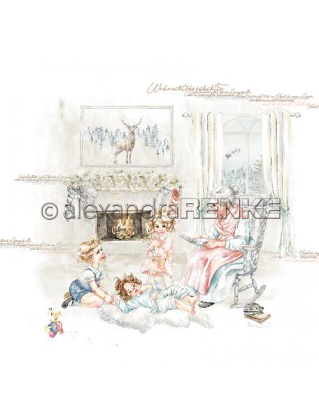 Alexandra Renke Cardstock una cara 30,5x30,5 cm, Weihnachtskinder Es war einmal