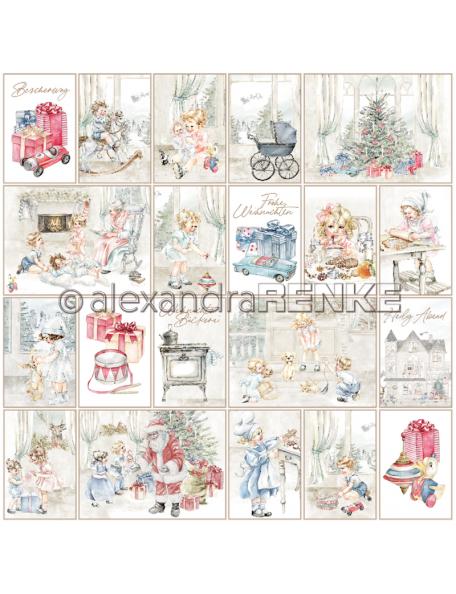 Alexandra Renke Cardstock una cara 30,5x30,5 cm, Kärtchenbogen Weihnachtskinde