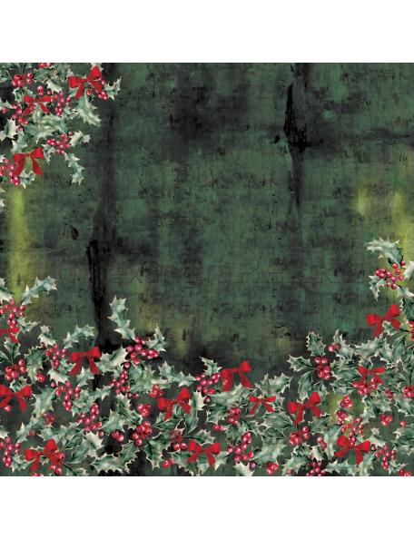 Alexandra Renke Cardstock una cara 30,5x30,5 cm, Winterbirds Ilex