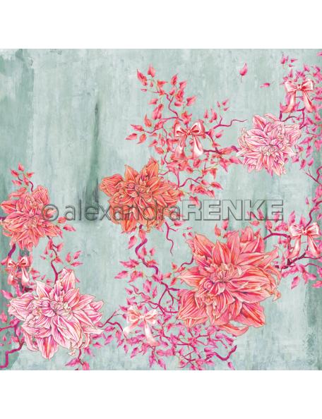 Alexandra Renke Cardstock una cara 30,5x30,5 cm, Winterbirds Amaryllis